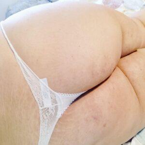 Tanguita Blanco Super Pequeño Chica Curvy