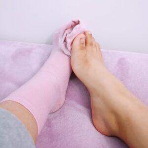 Calcetines rositas de Maika. ❤️👉👌
